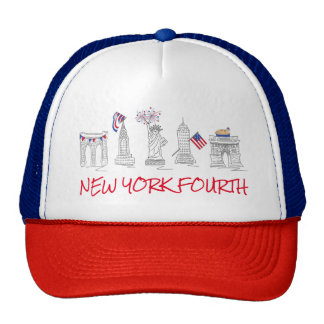 NYC New York Fourth 4th of July Patriotic USA Hat