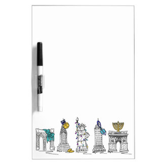 NYC New York NY Hanukkah Chanukah Jewish Holidays Dry Erase Board