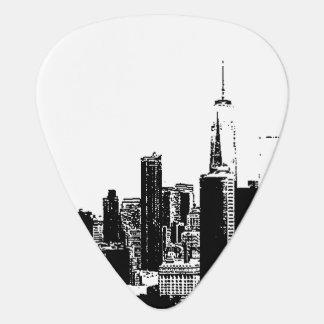 NYC New York vintage black white image cover Guitar Pick