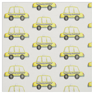 NYC New York Yellow Taxi Cabs Checkered Cab Fabric