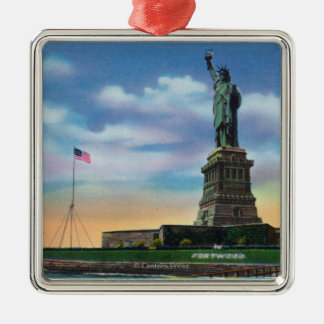 NYC, New YorkView of the Statue of Liberty Christmas Ornament
