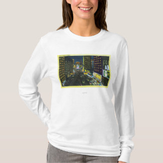 NYC, New YorkView of Times Square at Night # 1 T-Shirt