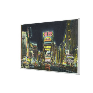 NYC, New YorkView of Times Square at Night # 2 Canvas Print