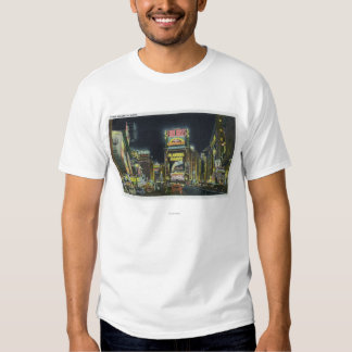 NYC, New YorkView of Times Square at Night # 2 T Shirts