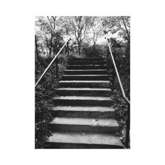 NYC On The Street Photo Stairway to Secret Garden Canvas Print