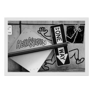 """NYC """"One Way to Hells Kitchen"""" Print by Urban59"""