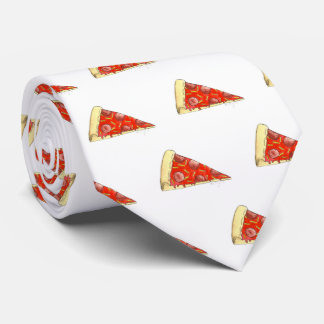 NYC Pepperoni Cheese Pizza Slice Pizzeria Foodie Tie