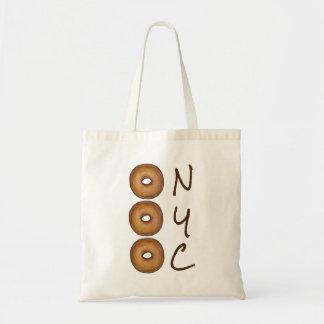 NYC Plain Bagel New York City Deli Foodie Tote Budget Tote Bag