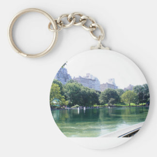 NYC Pond in Central Park Canvas Print Key Ring