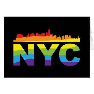 NYC Pride Rainbow Greeting Card