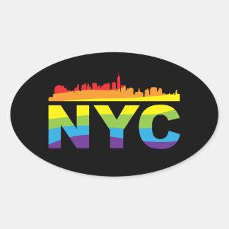 NYC Pride Rainbow Oval Sticker