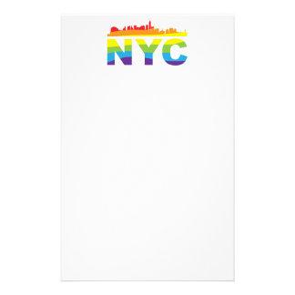 NYC Pride Rainbow Customized Stationery