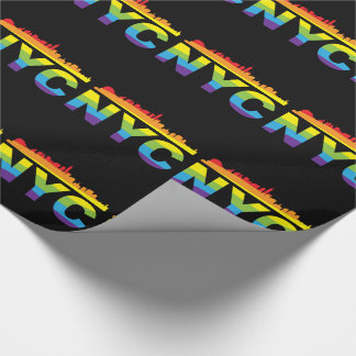 NYC Pride Rainbow Wrapping Paper