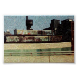 NYC Rail Yard Poster