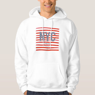 NYC   Red, White & Blue Design Hoodie