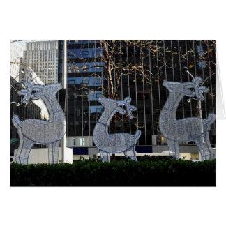 NYC Reindeer in Manhattan Christmas Card