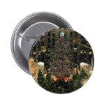 NYC Rockefeller Centre Xmas Tree Falling Snow Pinback Buttons
