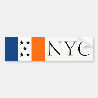 NYC simplified flag bumper sticker