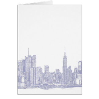 NYC sketch in light blue Card