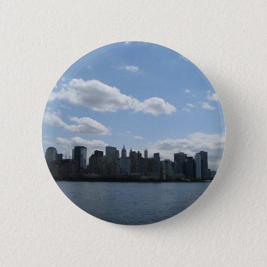 NYC skyline 6 Cm Round Badge