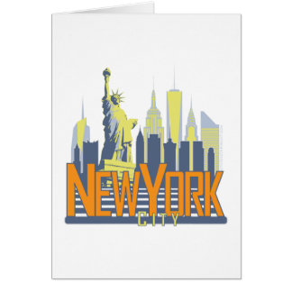NYC Skyline Bold Greeting Card