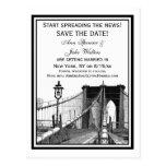 NYC Skyline Brooklyn Bridge #2 Save the Date