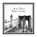 NYC Skyline Brooklyn Bridge #2 SQ Sweet 16 Party