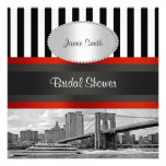 NYC Skyline Brooklyn Bridge, Boat Bridal Shower Personalized Invitation