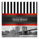 NYC Skyline Brooklyn Bridge, Boat Party Invitation