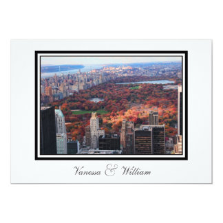 NYC Skyline Central Park From Above Wedding Invite