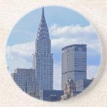 NYC Skyline Chrysler Building B1 Beverage Coasters