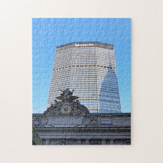 NYC Skyline: Chrysler Building Casts Long Shadow Jigsaw Puzzle
