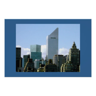 NYC SKYLINE - CITICORP BUILDING POSTER