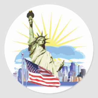 NYC Skyline Classic Round Sticker