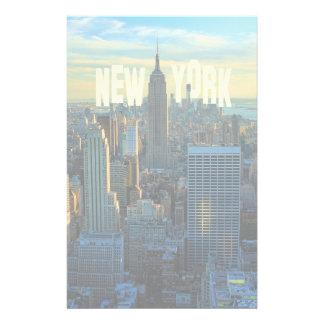 NYC Skyline Empire State Bldg, WTC 2C Stationery