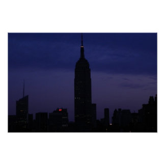 NYC Skyline: Empire State Building at Dawn Poster