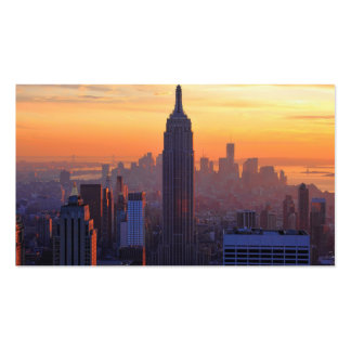 NYC Skyline: Empire State Building Orange Sunset Pack Of Standard Business Cards
