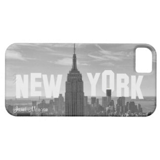 NYC Skyline Empire State Building, Wld Trd BW 2CH2 iPhone 5 Case