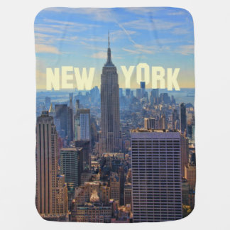 NYC Skyline Empire State Building, World Trade 2C Baby Blanket