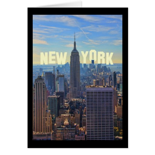 NYC Skyline Empire State Building, World Trade 2C Greeting Cards