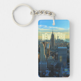 NYC Skyline Empire State Building, World Trade 2C Key Ring