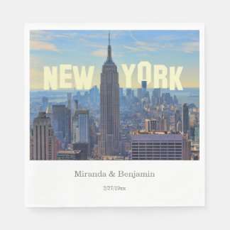 NYC Skyline Empire State Building World Trade 2C L Disposable Napkins