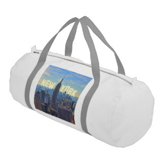 NYC Skyline Empire State Building World Trade 2C L Gym Duffel Bag