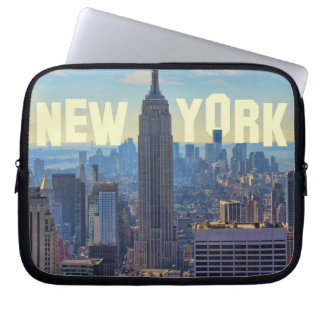 NYC Skyline Empire State Building, World Trade 2C Laptop Sleeve