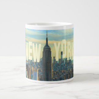 NYC Skyline Empire State Building, World Trade 2C Large Coffee Mug