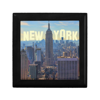 NYC Skyline Empire State Building, World Trade 2C Small Square Gift Box