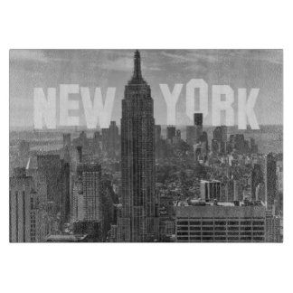 NYC Skyline Empire State Building World Trade 2CBW Cutting Boards
