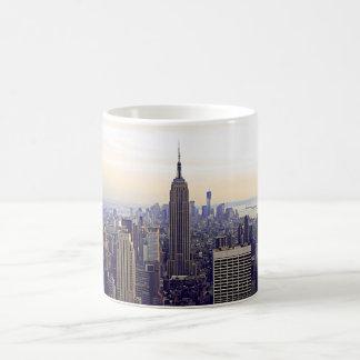 NYC skyline Empire State Building, WTC 4 Basic White Mug