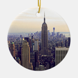 NYC skyline Empire State Building, WTC 4 Christmas Ornament