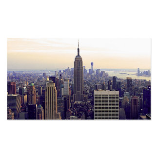 NYC skyline Empire State Building, WTC 4 Pack Of Standard Business Cards